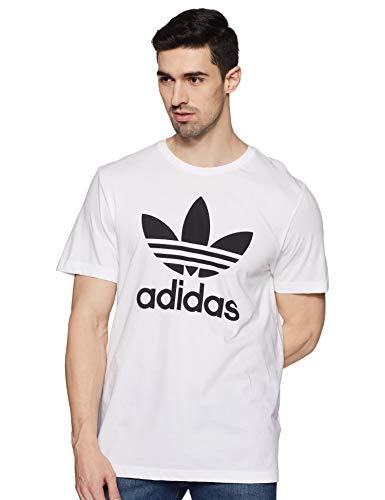 Adidas Mens Originals Trefoil T Shirt White Medium