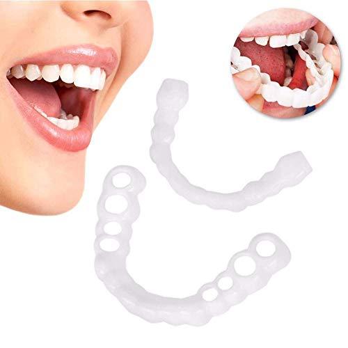 XCY Carillas Dentales Snap On Instant Smile Sonrisa Fundas Dientes Reutilizable Adulto para Blanquear La Dentadura Reutilizable Adulto para Blanquear La Dentadura