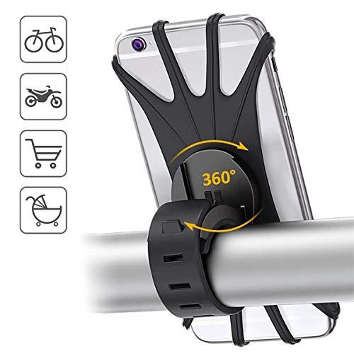 Vohoney Handyhalterung Fahrrad Aluminium Handyhalter Motorrad Handy Halterung Anti-Shake Fahrrad Handy Halterung Universal fr 4,0-6,5 Zoll Smartphone 360