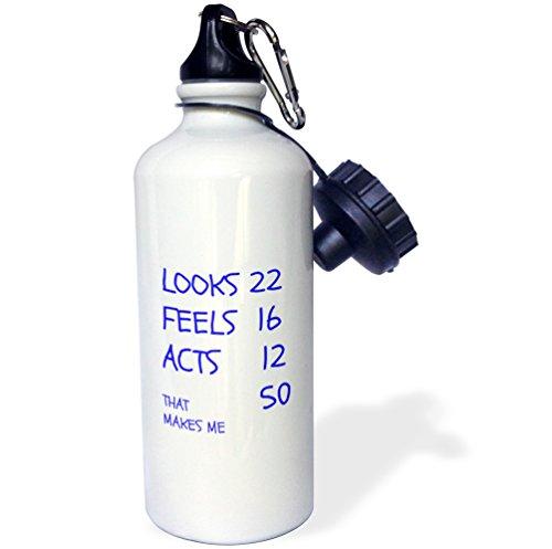 3dRose Bouteille d'eau unisexe Wb_214435_1 - Blanc - 600 ml