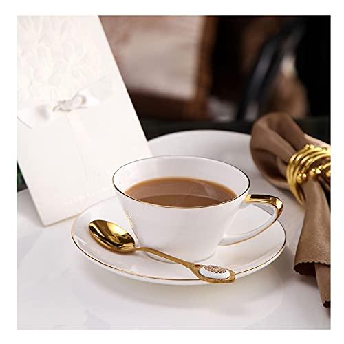 Coffee Mug,Ceramic Coffee Cup Luxury Simple Cup and Saucer Pure White Coffee Cup and Saucer Phnom Penh Home Afternoon Tea Set