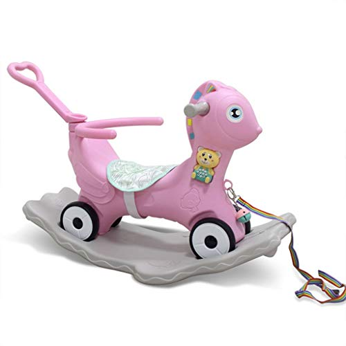 Why Should You Buy S-D Portable 2 in 1 Children Rocking Horse Cart, Outdoor Large Multifunctional Cu...