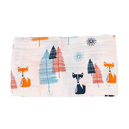 Willlly Newborn Swaddle Blanket Gigoteuse 110Cm Chic X Casual 110Cm Fox Simplicité Classique Style De La Mode (Color : Colour, Size : Size)