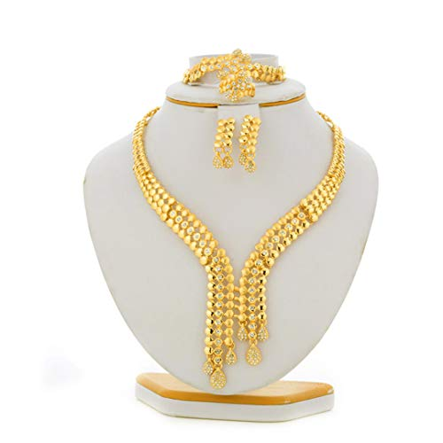 Braut Schmuck Sets Ethiopian afrikanische Halskette Eritrea Hochzeit Dubai Schmucksachen für Frauen Sudan Sets Goldfarben-Arab-Geschenke