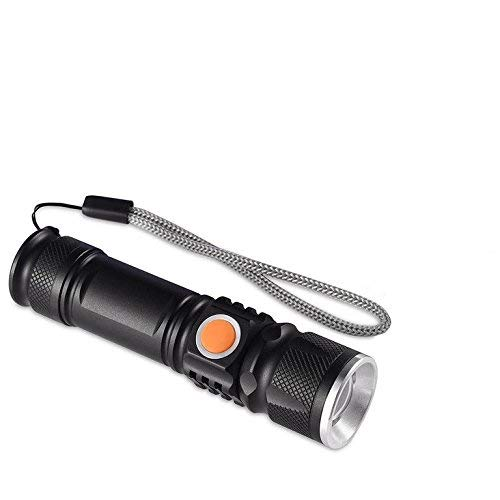2x starke mini LED USB Taschenlampe Polizei Swat Wiederaufladbare Cree 1200 Lumen