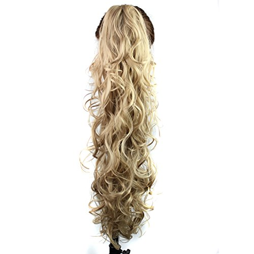 S-ssoy 31(78cm) Womens Curly Pony Tail Hair Piece Synthetic Claw Clip Ponytail Wavy Long Curled in Hair Extension Extensions Long/Voluminous Wig Hairpieces for Women Girls Lady,16#