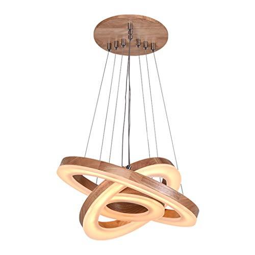 LED spinnenkrans van hout voor restaurant creatieve woonkamer eettafel spin bruiloft lampen en lantaarns van acryl kantoor vergaderruimte eiken spin hangend 100 cm warm licht verstelbaar (maat: D)