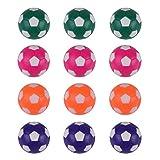 RAYNA GAMES Juego de 12 pelotas de futbolín, tamaño regular, 36 mm, multicolor