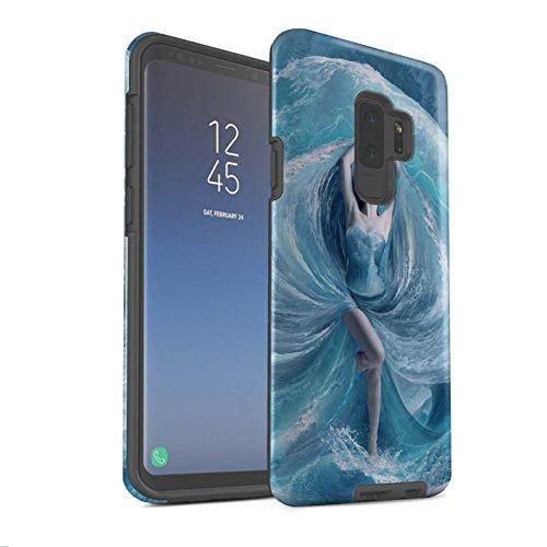 Elena Dudina Officiële Telefoonhoesje/Matte Stoere Schokbestendige Cover voor Samsung Galaxy S9 Plus/G965 / Zee Jurk Design/Fantasy Engel Collectie