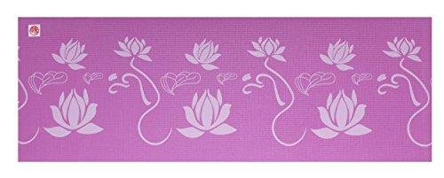 silly.con Fit & Fun Esterilla de yoga para mujer con estampado de flor de loto, 173 cm, PVC, con correa de transporte, tamaño M