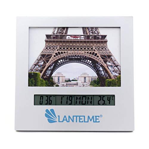 Lantelme digitale thermometer met analoge fotolijst klok wekker alarm datum timer foto foto's frame 8011