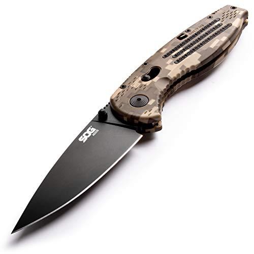 SOG AE06-CP Aegis 3.5in Folding Utility Knife Camo