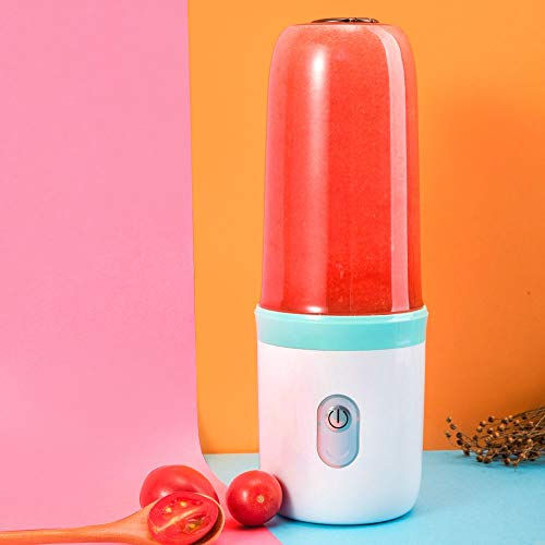 CalmDo Frei Tragbar Saftpresse Orange Entsafter Slow Juicer Mini Standmixer
