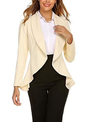 Unibelle Blazer Dames lang cardigan getailleerd elegant casual jas blazer slim fit pak trenchcoat S-XXL