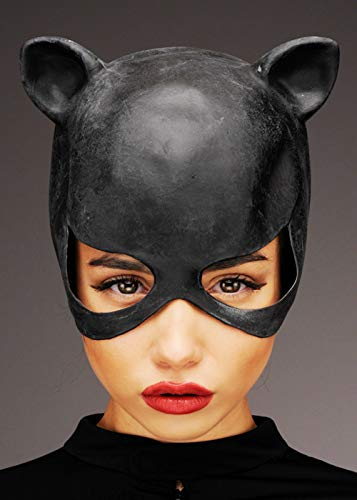 Magic Box Int. Womens Black Latex Catwoman Maske mit Ohren