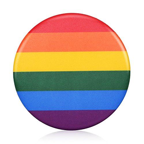 TRIXES Regenbogen-Pin Rainbow Anstecknadel LGBT Support Peace Gay Pride Diversity Abzeichen