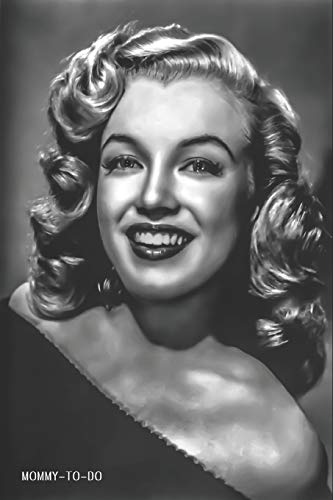 Mommy-To-Do: Stay At Home Mom To Do List Notebook 6x9 125 Pages Glossy Finish Marilyn Monroe Glamour Oil Portrait