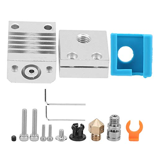 3D Printer Extruder Upgrade Kit,Compatible with Ender‑3,CR‑10 Hot End Accessories Heating Block