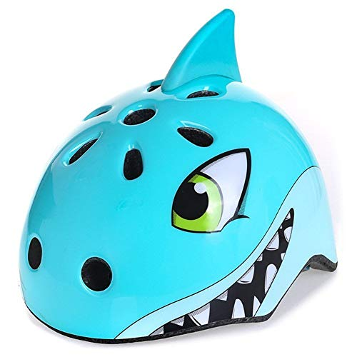 Anharluka Awesome Boys/Girls Shark Safety Helmet Children Multi-Sport Helmet for Skateboard Cycling Skate Scooter Roller(48-52cm)