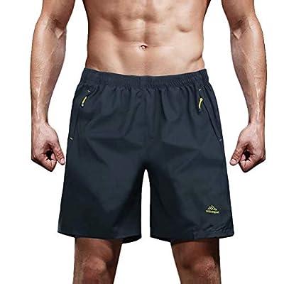 MAGCOMSEN Mens Workout Shorts Gym Shorts Men Volleyball Shorts Mens Shorts Athletic Shorts Big and Tall Shorts Sweat Shorts for Men Dark Grey