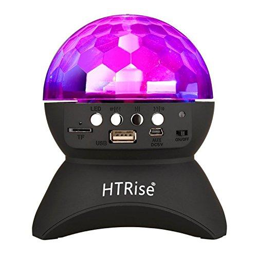 Disco Ball Home Party Light Speaker, Kid DJ Stage Lighting with Wireless Bluetooth Speaker (Black)