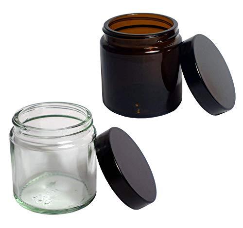 Comandante Ersatzglas mit Deckel (2 STK.) für C40 MK3 Kaffeemühle (1 x Transparent | 1x Braunglas)
