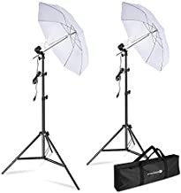Yesker Photography Lighting Umbrella Kit, 5500K Day Light Continuous Lighting Umbrella Equipment for Studio Photo Video Portrait Shooting with Tripod Stand