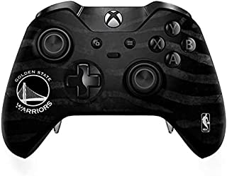 Skinit Decal Gaming Skin for Xbox One Elite Controller - Officially Licensed NBA Golden State Warriors Black Animal Print Design