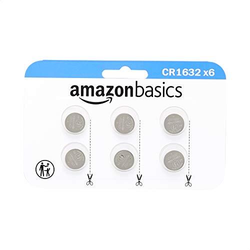 Amazon Basics - Juego de pilas de botón de litio CR1632, 6unidades