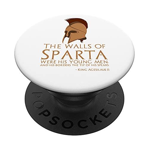 Rey Agesilaus II - Cita espartana antigua - Motivacional PopSockets PopGrip Intercambiable