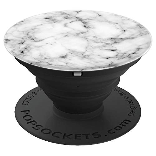 White & Black Geometric Design Phone Stand & Holder PopSockets Grip and Stand for Phones and Tablets