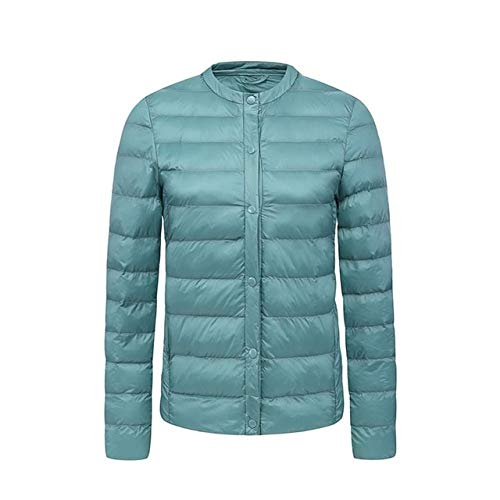 YRFHQB wintermantel jas vrouwen dunne bovenkleding 90% witte eendendonzen mantel opstaande kraag casual dunne parkeeras solide ultralichte jas