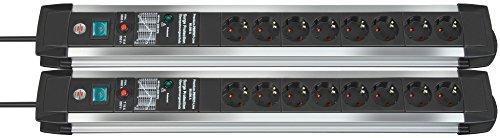 2 Stück Brennenstuhl Premium-Protect-Line 60.000A Überspannungsschutz-Steckdosenleiste 8-fach 3m H05VV-F 3G1,5