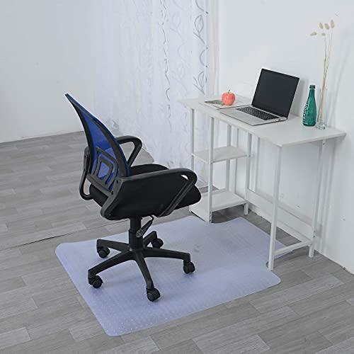 Loman Alfombra de escritorio de seguridad antideslizante para silla de oficina, de plástico, para el hogar, oficina, sillas, escritorios, para piso duro