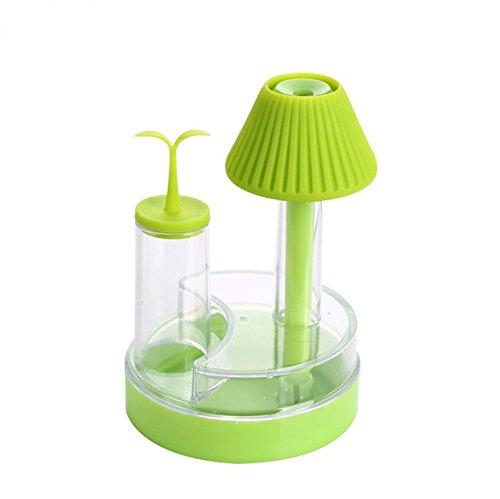 YL Humidificador de Lámpara de Mesa Led Luz de la Noche Aroma Máquina Usb Purificador de Aire Purificador de Humedad de Ultrasonidos,Verde