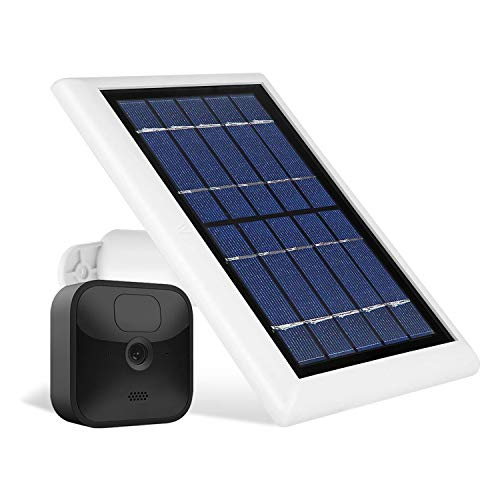 Wasserstein Solar Panel with Internal Battery Compatible with Blink Outdoor & Blink XT2/XT Camera (1-Pack, White)