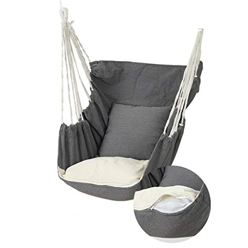ZRJ Hammock Camping Hammock Outdoor Hammock Chair With 2 Tree Straps for Travel Beach Backyard (Color : Gray)