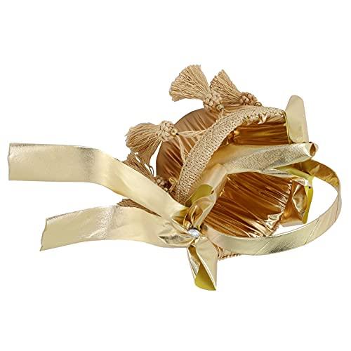 Eulbevoli Cesta de la Boda, Cesta de Flores maravillosamente portátil de Oro para la Ceremonia de la Fiesta para la decoración del...