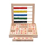 FightingGirl Wooden Abacus Children Kids Counting Number Maths Learning Developmental Toy Gift for 3+ Year Old Boys Girls
