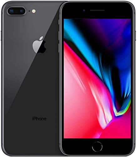 Apple iPhone 8 Plus, 64GB, Space Gray - Fully Unlocked (Renewed)*