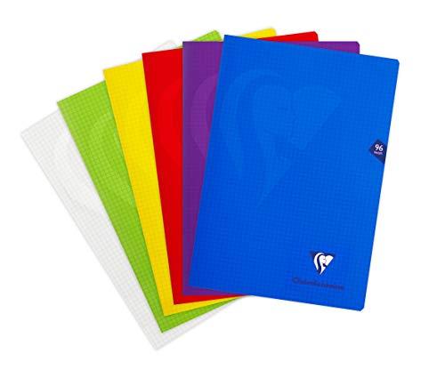 Clairefontaine 293162AMZC - Lote de 2 cuadernos grapados con cubierta