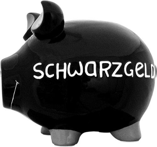 No Name (foreign brand) Sparschwein ''Schwarzgeld'' - Monsterschwein von KCG - Höhe ca. 25cm