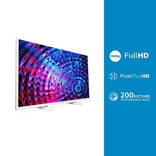 Televisor Philips 32PFT5603/12 32 pulgadas (80 cm) Televisor LED Full HD ultrafino (Pixel Plus HD, 2 entradas HDMI con EasyLink, USB, portátil), Color Blanco [Clase de etiqueta energética: A] miniatura