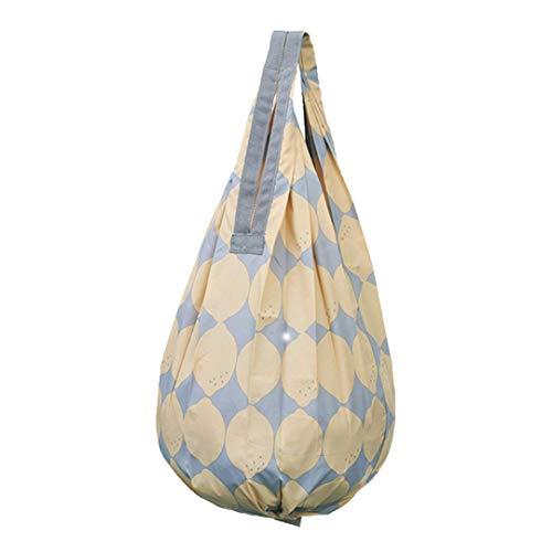 マーナ(MARNA) Shupatto(シュパット)コンパクトバッグ Drop(ドロップ)レモン 縦型 しずく 一気ににたためるエコバッグ S460LE バッグ使用時:28×56cm