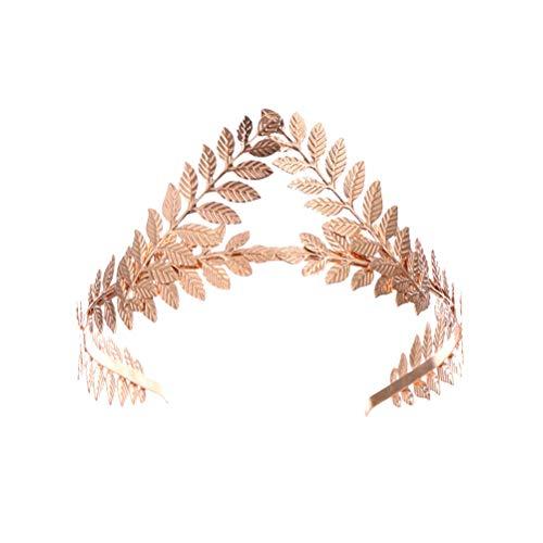Lurrose Vintage diseño de hojas corona para el pelo, elegantes bandas para...