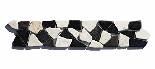 BO-555 Marmor Bordüre Bruchstein Mosaifliesen Naturstein Badezimmer Fliesen Lager Verkauf Stein-Mosaik Herne NRW