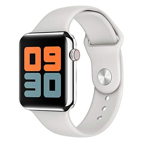 ASDSDF Aktivitäts-Tracker, Smartwatch Bluetooth für tragbare Armband-Gesundheitsprodukte von Apple Schritte Zähler, Herzfrequenz- und Blutdrucküberwachung und andere Funktionen-White