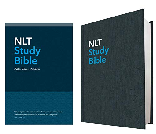 Compare Textbook Prices for NLT Study Bible Red Letter, Hardcover Cloth, Blue Box Edition ISBN 9781496416650 by Tyndale