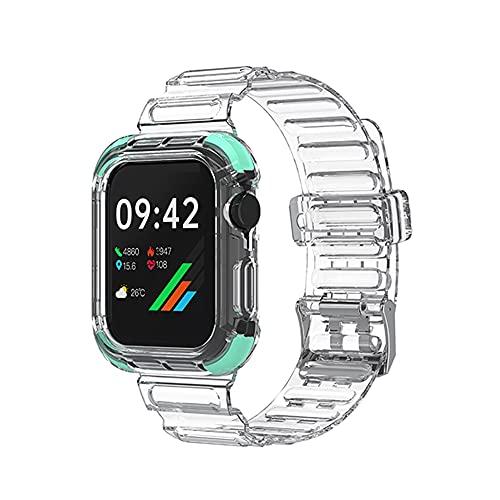 LOKOER Correa de reloj de 40 mm, transparente, resistente al agua, correa de TPU para iWatch Series 6/5/4/3/2/1/SE