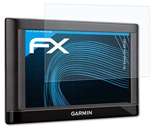 atFoliX Schutzfolie kompatibel mit Garmin nüvi 65LMT Folie, ultraklare FX Displayschutzfolie (3X)